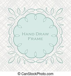 Set of hand draw calligraphic floral design elements