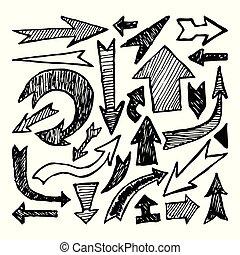 Set of Hand drawn arrow