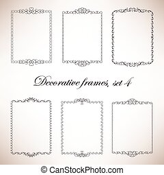 Set of hand drawn decorative frames