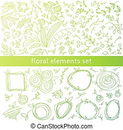 floral decor elements.