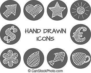 Set of hand drawn icons