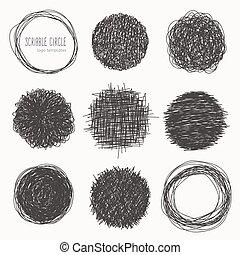 Set of hand drawn logo templates.