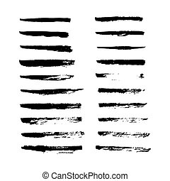 Set of hand drawn smears. - Set of hand drawn grunge brush...