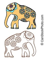 stylized elephant