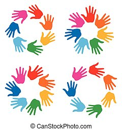 Set of Hand Print icons