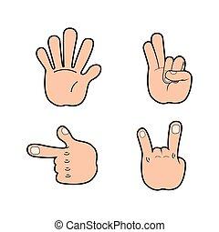 Set of hand signals