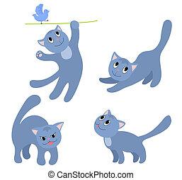 Set of happy cats 4.
