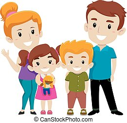 Set of Happy Family