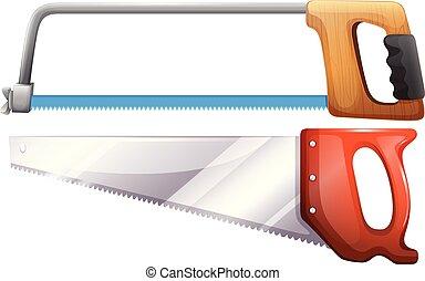 Set of hardware saws