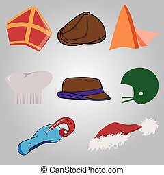 set of hats - collection of unique hats easy to adjust as...