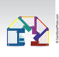 Set of HD diskettes - illustration