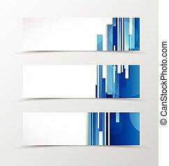 Set of header banner digital design