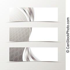 Set of header banner grid design