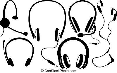 headphones - set of headphones isolated