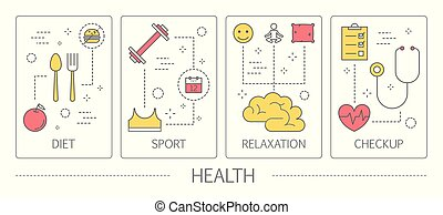 Set of health vertical banners. Idea of medicine and...