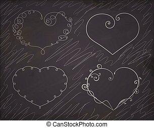 Set of heart frames.