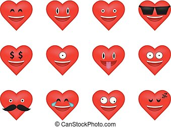 set of heart  icon