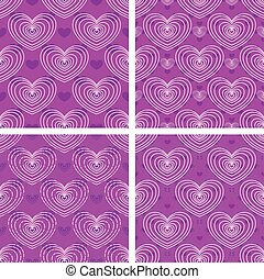 Set of heart patterns