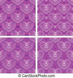 Set of heart patterns
