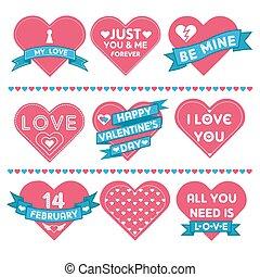 Set of Hearts for Valentine's Day Celebration