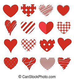 Set of hearts icon and vector illustration