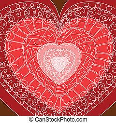 Set of hearts.