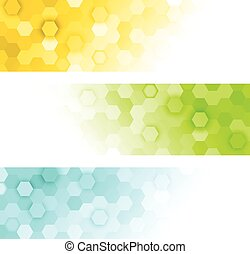 hexagons banners