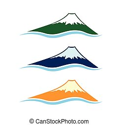 set of high mountains