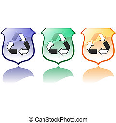 Set of High Quality Recycling Icons jpeg