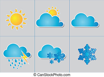 Set of high quality vector weath