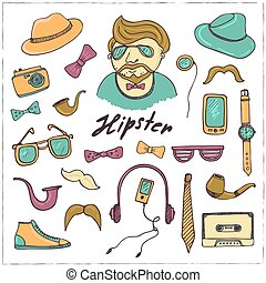 Set of hipster style symbols Sketches