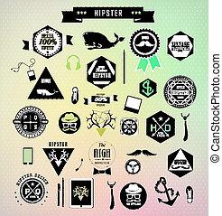 Set of hipster vintage retro label
