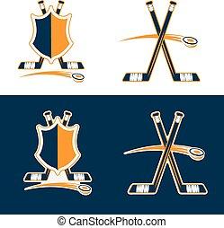 set of Hockey Sport Crests