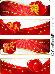 Set of holiday banners.