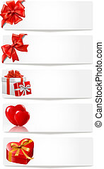 Set of holiday banners. Vector
