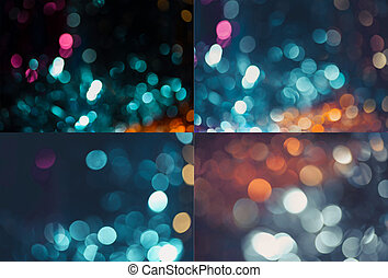 set of holiday blurred backgrounds