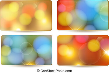 Set of holiday colorful abstract gift cards. Vector illustration