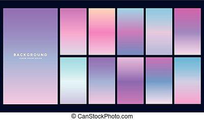 set of hologram gradients design