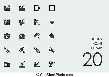 Set of home repair icons