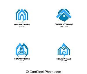 Set of Home Talk logo design template