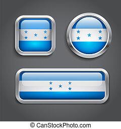 Honduras  flag glass buttons