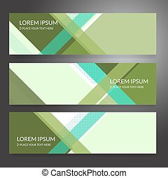 Set of horizon abstract colorful banner background with copy space