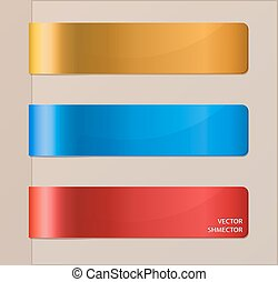 Set of horizontal banners or bookmarks