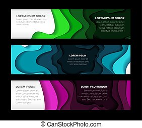 Set of horizontal banners templates