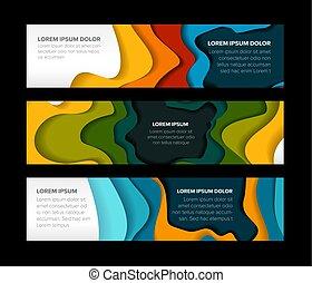 Set of horizontal banners templates