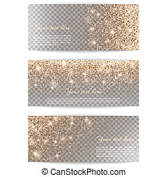Set of horizontal banners transparent background