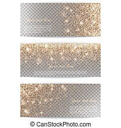 Set of horizontal banners transparent background - Set of...
