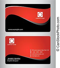 Set of horizontal business cards