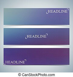 Set of horizontal multicolored backgrounds for your design. Vector Illustration