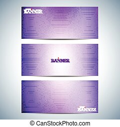 Set of horizontal multicolored backgrounds for your design. Modern business template . Vector Illustration